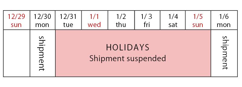 年末・年始発送カレンダー